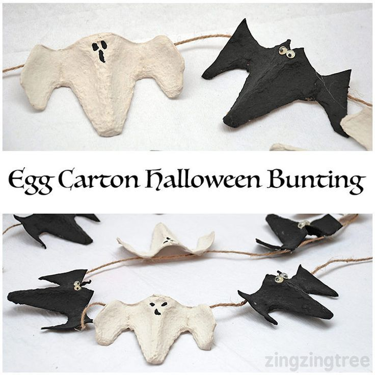 Egg Carton Craft - A simple Egg Box Halloween Bunting that's so simple and so cute - and definitely one for the kids to help with!