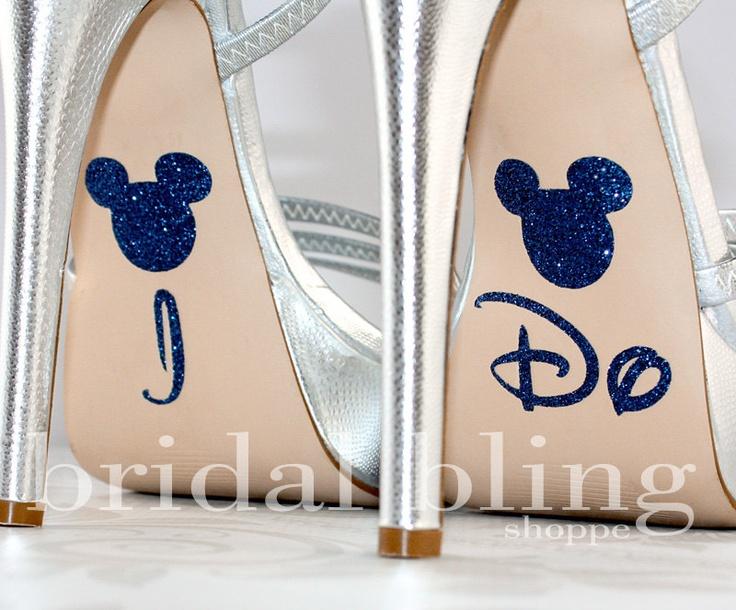 I Do Shoe Stickers For The Disney Bride Glittering Something Blue - Sapphire. $7.99, via Etsy.
