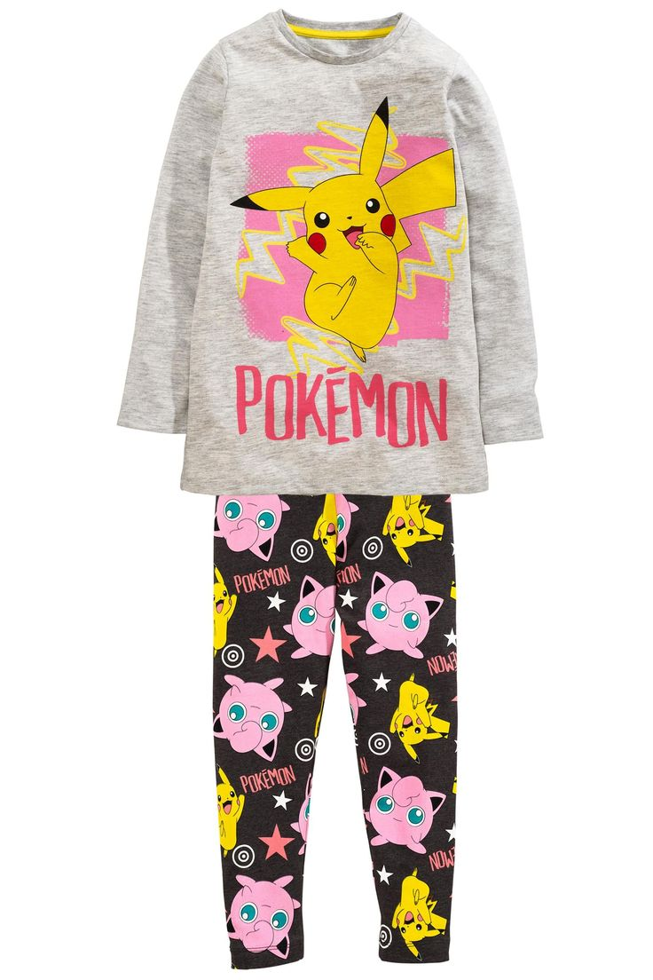Buy Grey Pikachu Legging Pyjamas (3-12yrs) from the Next UK online shop