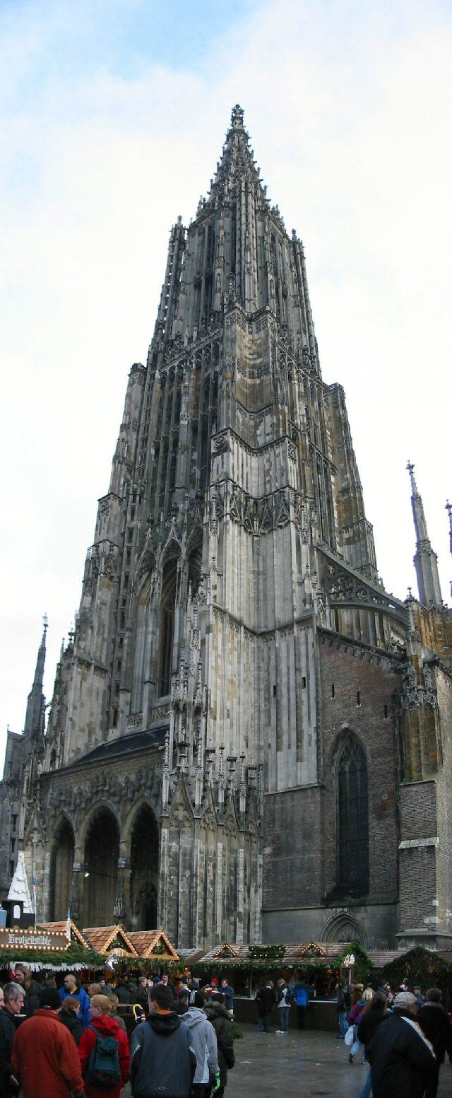 Ulm Cathedral - tallest spire in the world. Chris and I climbed up and up. The wind was incredible at the top. I almost made it to the top. Chris went on without me. I stood and gazed at the view. Beautiful inside.