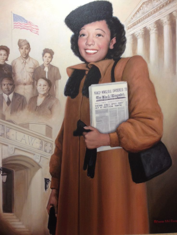 On this day (June 18) in 1949 Ada Lois Sipuel Fisher was the first African American admitted to The University of Oklahoma College of Law.