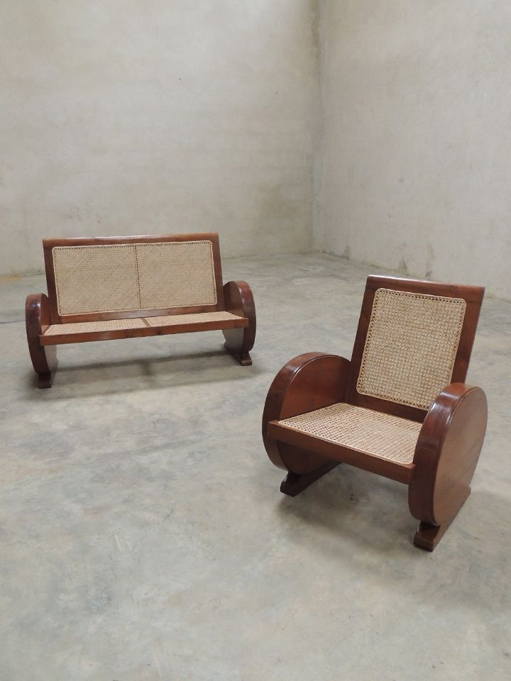 Art Deco Rosewood Sofa Set   India