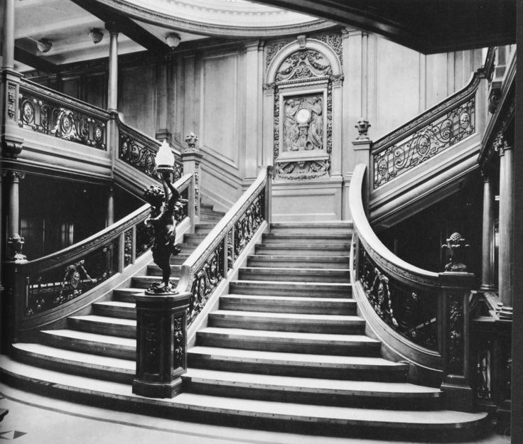 Now with the news of the Australian billionaire commissioning a near-replica of the Titanic, I poured over some old photos. This staircase is simply breath-taking, even today