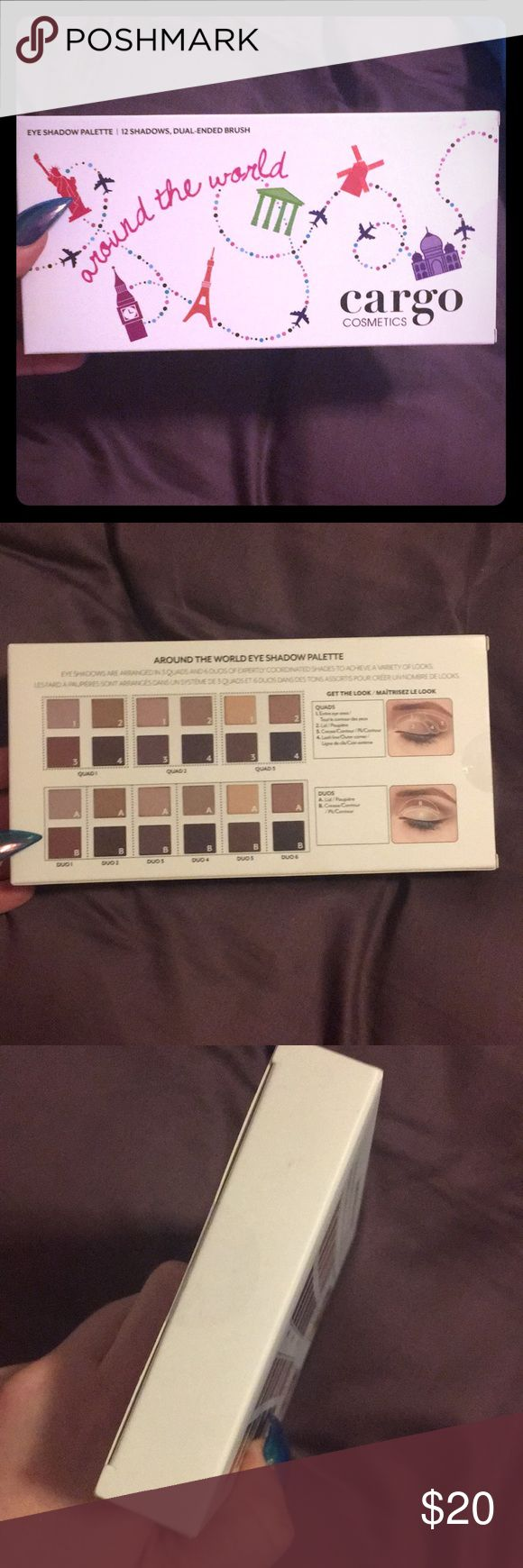 Around The World Cargo Cosmetics Eyeshadow New Around The World Cargo Cosmetics Eyeshadow Brand New, still sealed. I am just trying to downsize. Please let me know if you have any questions and please check out my other great items! Cargo Cosmetics Makeup Eyeshadow
