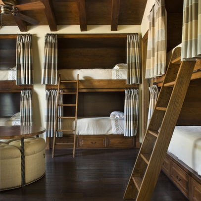 Love the idea of curtains, the windows are big...Bunk Beds Nautical Boys Kids Cottage Lak Design, Pictures, Remodel, Decor and Ideas - page 4
