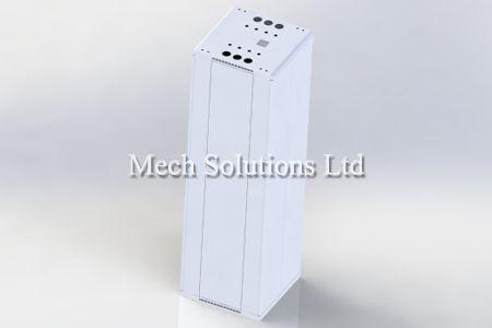 Sheet metal design of server using Solidworks, CAD, service in Toronto, GTA, Canada
