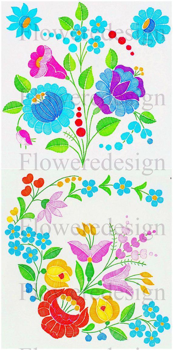06. Digital flower motif hand embroidery motif