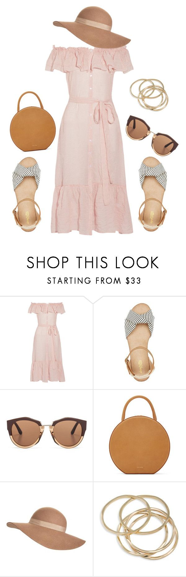 """""""Untitled #170"""" by macbarbie00 ❤ liked on Polyvore featuring Lisa Marie Fernandez, Charlotte Russe, Marni, Mansur Gavriel, Jack Wills and ABS by Allen Schwartz"""