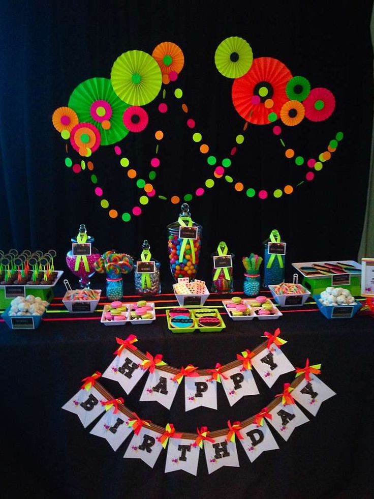 Neon / Glow in the Dark Birthday Party Ideas | Photo 1 of 19 | Catch My Party