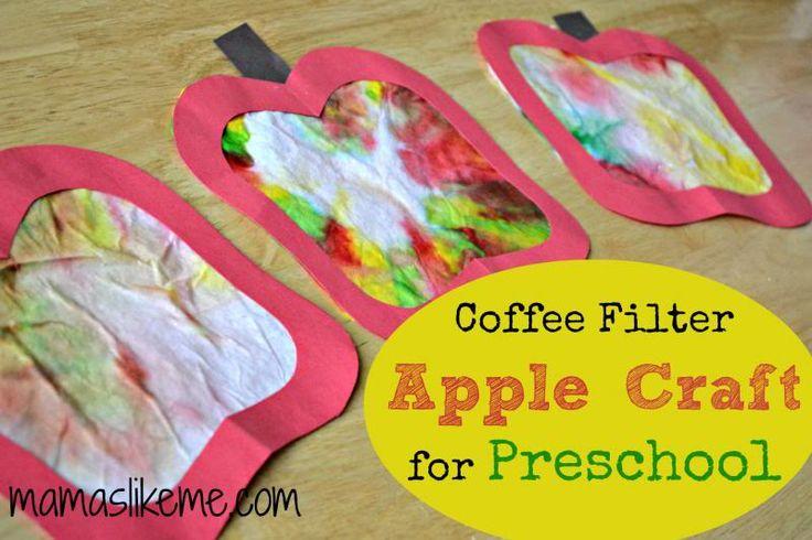 Mamas Like Me: Coffee Filter Apples