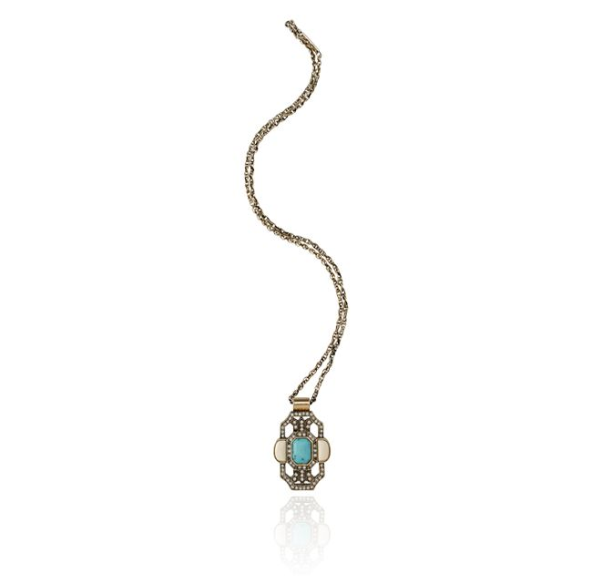 SW AUTUMNS SILENCE NECKLACE, TURQUOISE