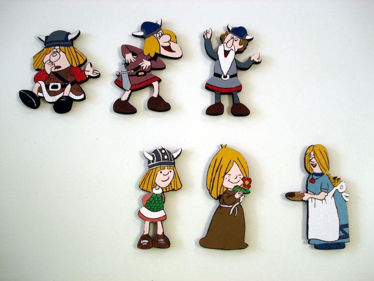Imanes para la nevera de Vickie el vikingo
