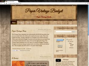 Screen shot 2012 06 15 at 12.31.01 PM 300x224 Vintage Paper Blogger Template Book Blogger Design