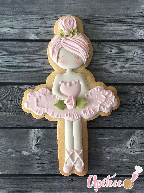 Ballerina Cookie - wunderschöne Tänzerin mit Icing aufgetragen. Süsse Überraschung mit Wow-Effekt