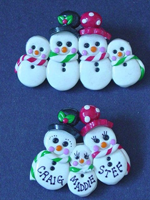 polymer clay family ornaments - Google Search