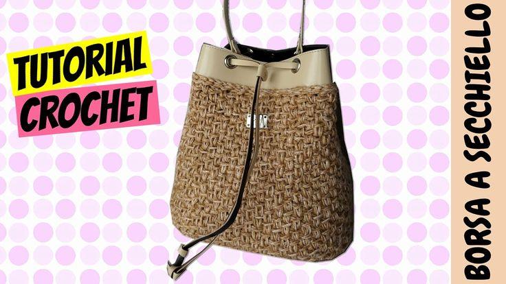 Tutorial borsa a secchiello uncinetto | Bucket bag crochet || Katy Handmade