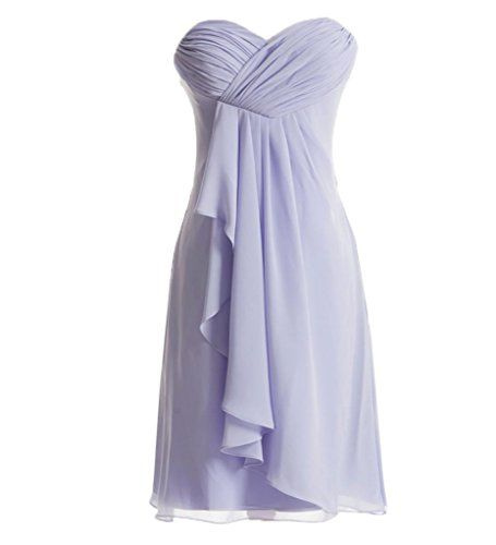 ASA Pleated Chiffon Short Bridesmaid Dress Homecoming Dresses $49.99	 - $69.99	(On sale from $109.99)