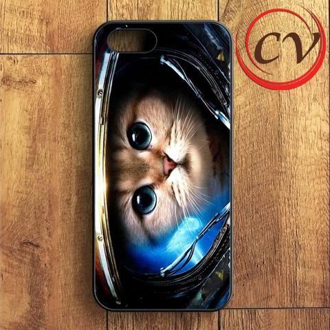 Astronaut Cat In Space iPhone SE Case