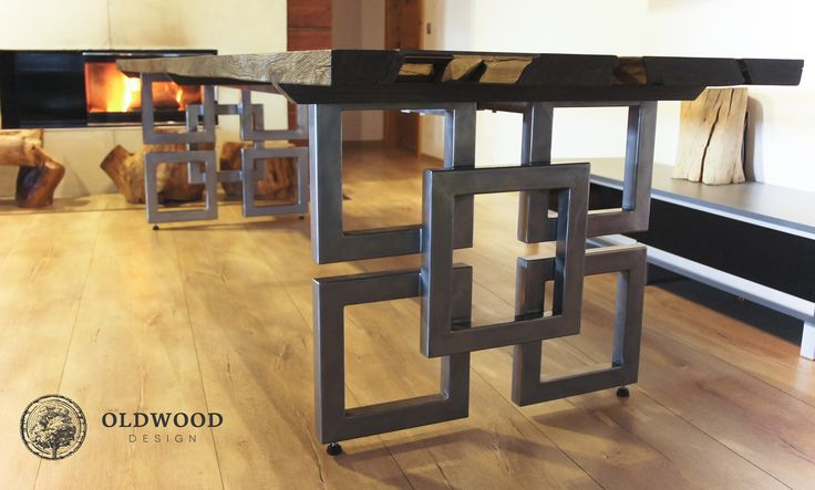bog oak table with 1600 years