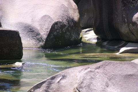 Babinda Boulders - these are the famous boulders where so many accidents have occurred and where swimming is not allowed.