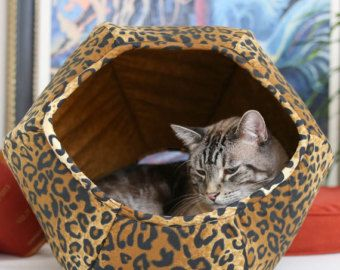 Modern cat beds cat cave and modern cat furniture by TheCatBall