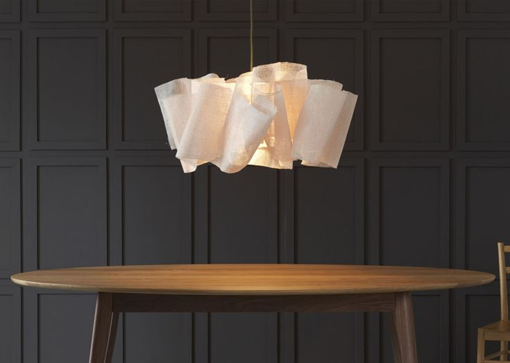 Sculpted From Layers Of Banana Fibre, Draped And Stitched Around The  Central Light Fixing.