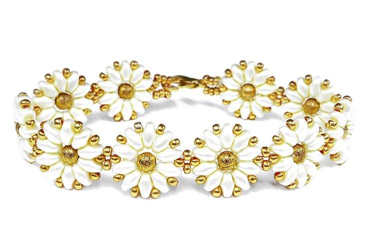 Tutorial: flower [easy] bracelet using superduo beads / Цветочный брасле...