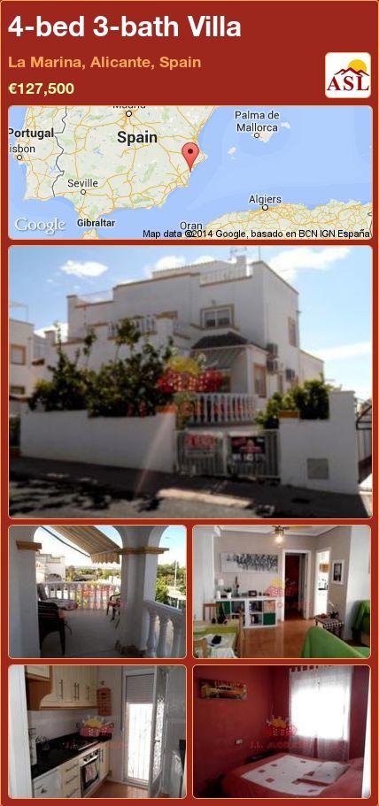 4-bed 3-bath Villa in La Marina, Alicante, Spain ►€127,500 #PropertyForSaleInSpain