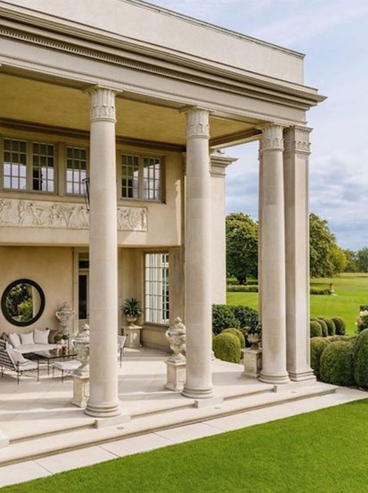 Luxury Mansion Exterior with #Pillars @PharaohsLegacy