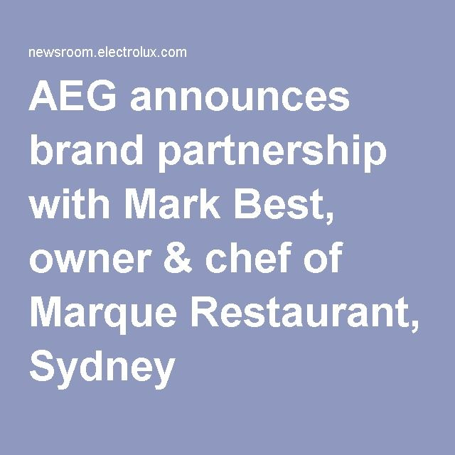 AEG announces brand partnership with Mark Best, owner & chef of Marque Restaurant, Sydney. All AEG products are sold at L & M Gold Star (2584 Gold Coast Highway, Mermaid Beach).