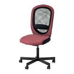 FLINTAN Bureaustoel - Havhult donkerroze - IKEA