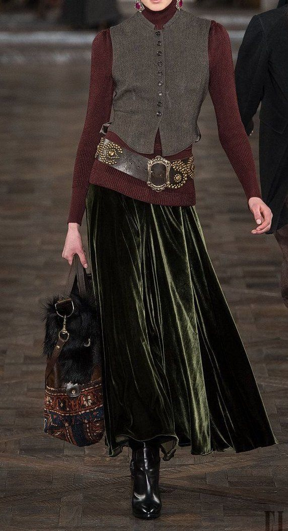 Ralph Lauren - Fall Winter 2013/2014...Oh yes!  I wish I was tall enough to wear this.