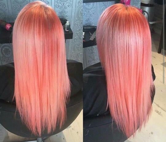 Pink coral pastel hair                                                       …