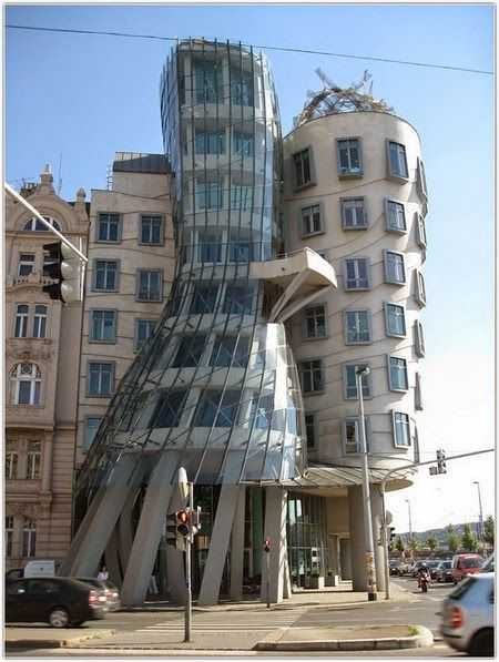 The Dancing House, or Fred and Ginger, is the nickname given to it in Prague, Czech Republic