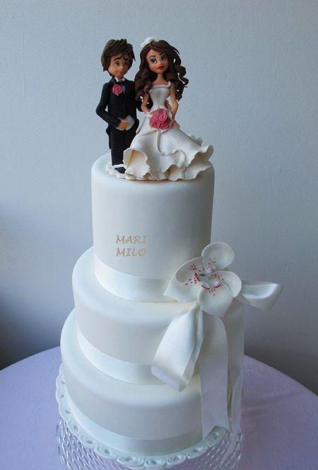 Bröllopstårta cake-toppers-brudpar-handgjord-brollopstarta – Mari Milo Cake Design