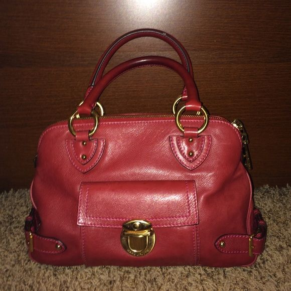 SALE Authentic Marc Jacobs satchel Authentic Marc Jacobs leather satchel in a dark red color.  Like new condition.  Hardly used. Marc Jacobs Bags Satchels