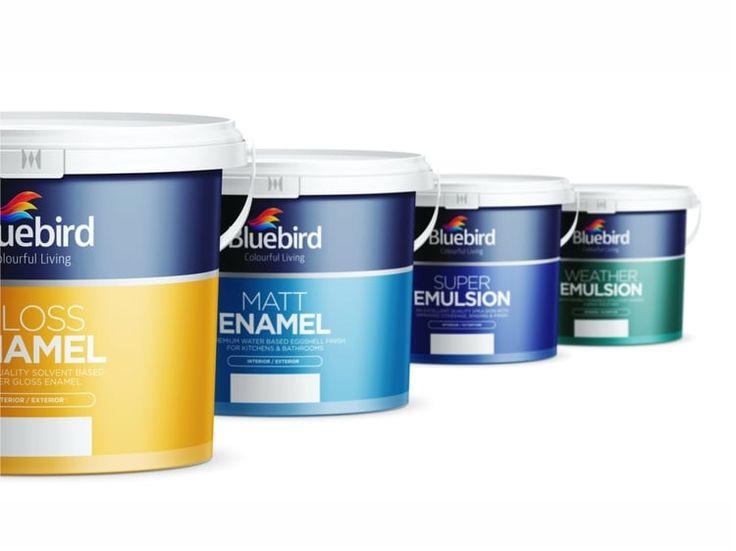 Bluebird Paint Packaging