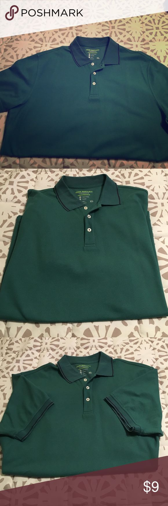 Men's short sleeve polo Men's short sleeve polo shirt. 3 buttons on front with collar. Never worn, no tags john bartlett Shirts Polos