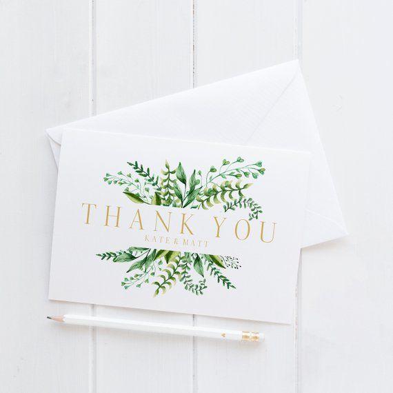 Custom Thank You Cards Wedding