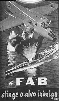 Brazilian Air Force poster - WWII
