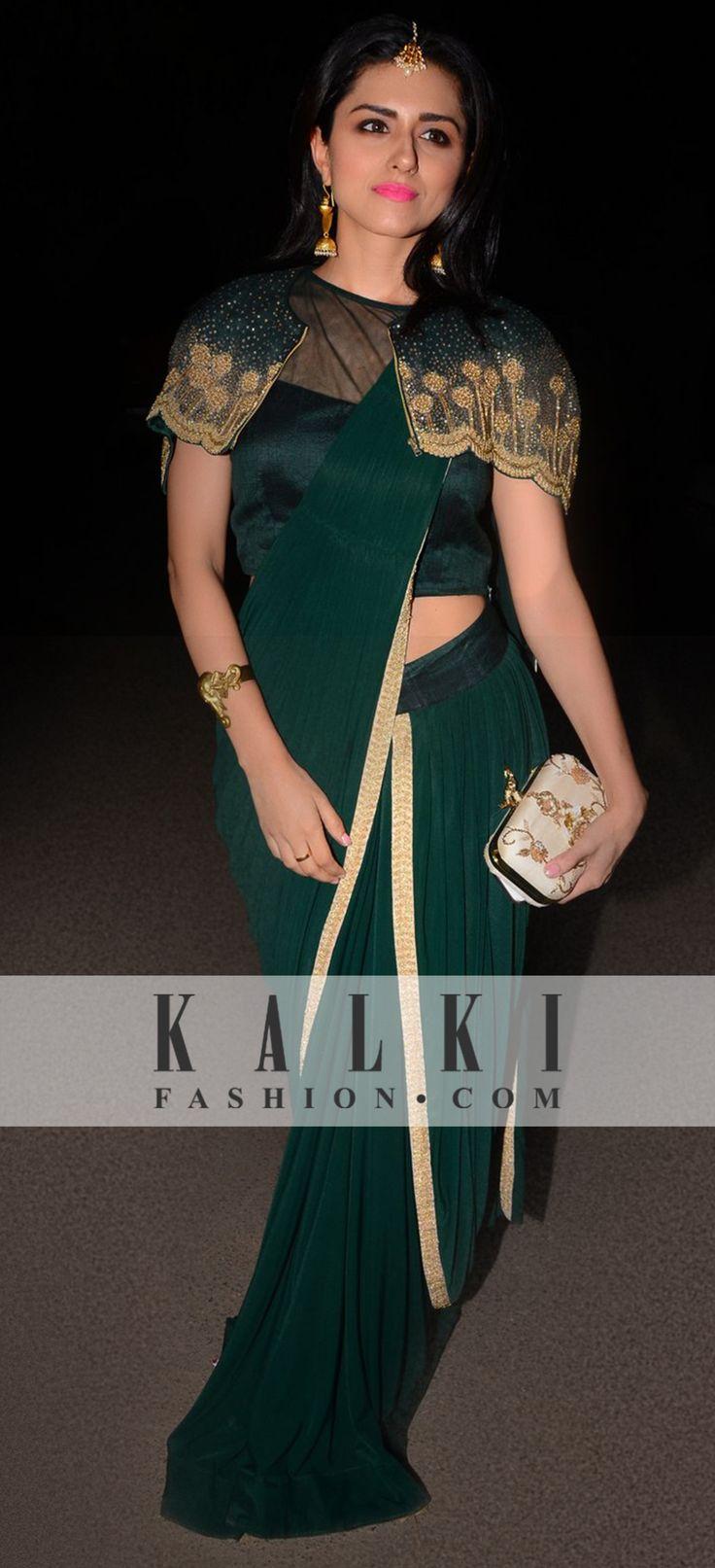 Beautiful Ridhi Dogra in KALKI Saree gown