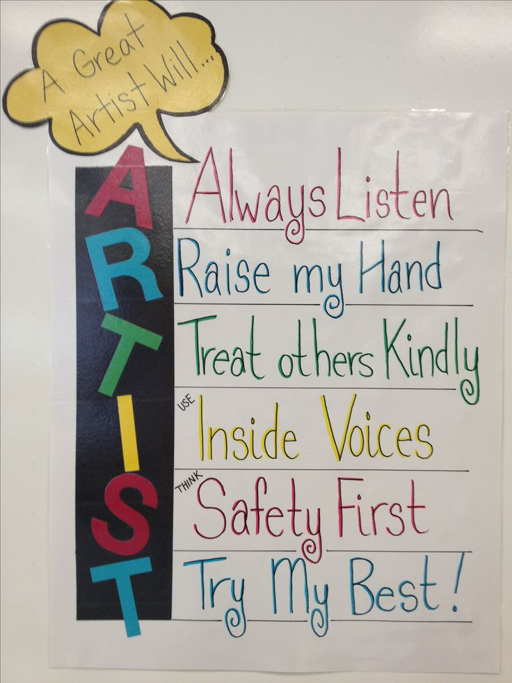 My art room rules!