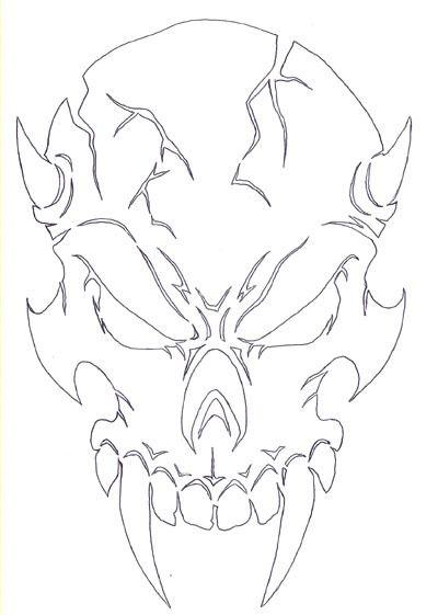 Ultima-Air  - Demon Skull 1 Airbrush Stencil, $11.99…