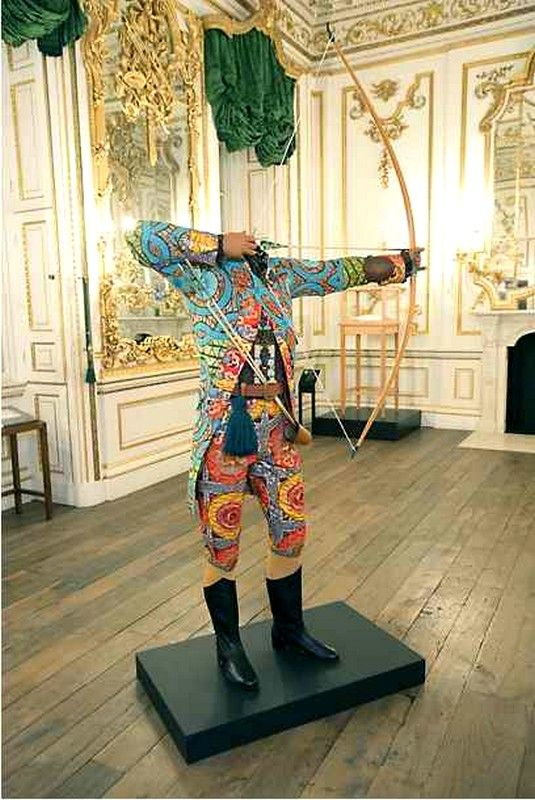 <3 African textiles purposed to Neo-Geogian fashion, by Yinka Shonibare. Amazingly brilliant.