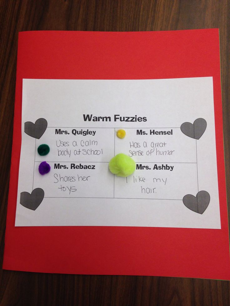 Warm Fuzzies Activity - I used this with my primary social ...