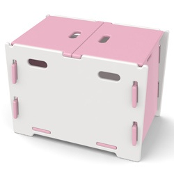@Overstock - Cut down on the clutter and deliver a burst of color with this contemporary toy box from Legare.  This toy box offers plenty of storage for your child's toys, stuffed animals, or other collectibles.http://www.overstock.com/Home-Garden/Legare-Kids-Pink-White-Toy-Box/6720129/product.html?CID=214117 SEK              607.00