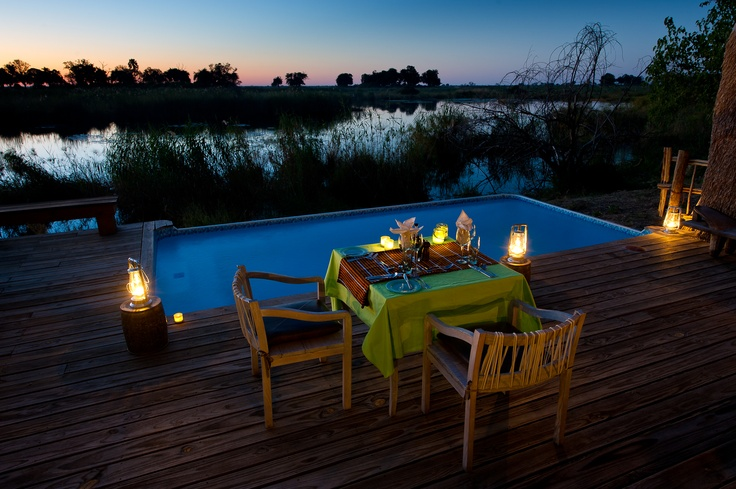 Named for Scandinavian royalty, Kings Pool overlooks the oxbow-shaped Kings Pool Lagoon and Linyanti River system.