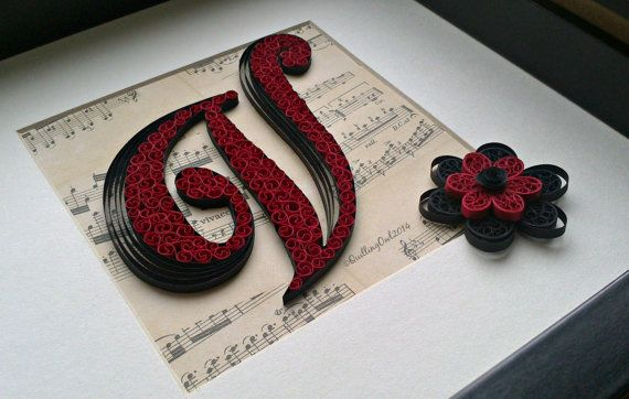 Original Paper Quilled Letters Wall Art Home Decor by QuillingOwl