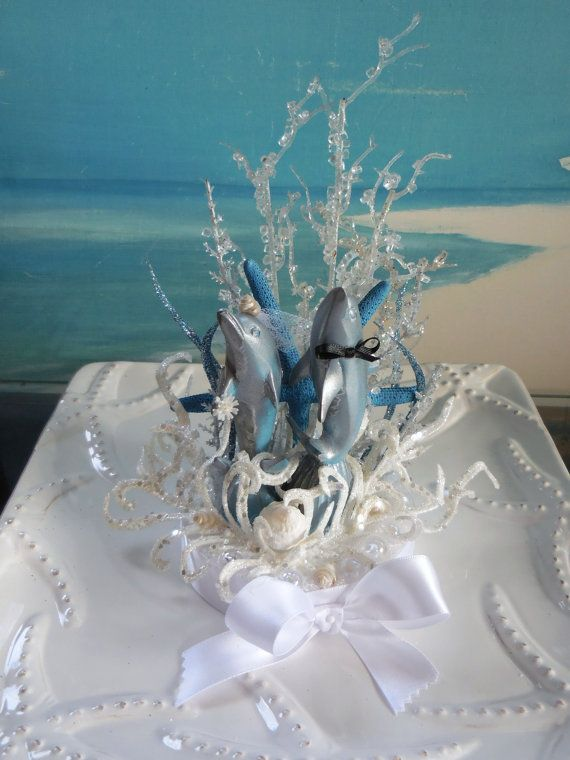 Dolphin Beach Wedding Cake Topper~~by CeShoreTreasures on Etsy:))
