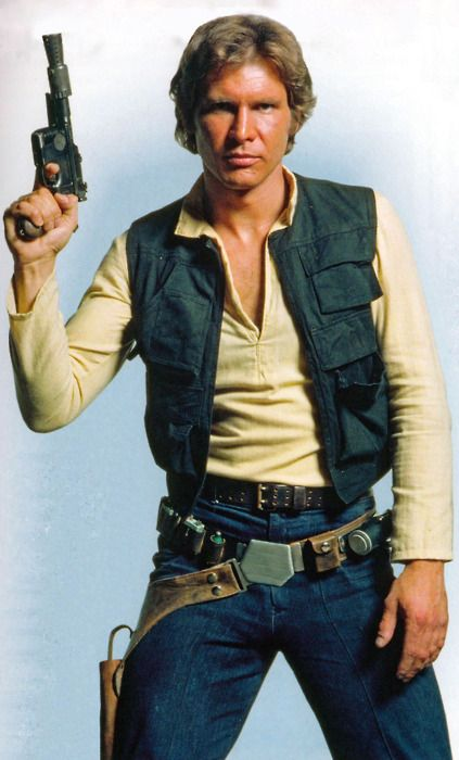 "Han Solo, in all his glory. ""WHO's 'scruffy-lookin'..?!?"" The rogues' Rogue, gunslinger, marksman, smuggler, pilot,... and rescuer of innocent Wookie from enslavement."